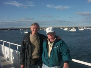 Dan Knaub (right) in Plymouth Harbor