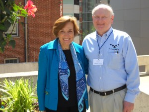 Dan Knaub with Sylvia Earle at the Blue Vision Summit, Washington DC